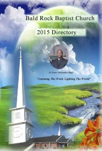 Bald Rock Baptist Church Directory 2015